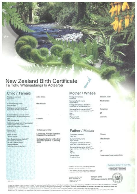 Birth Records Nz Cabinet Fields Certified Translation Quote Estimate