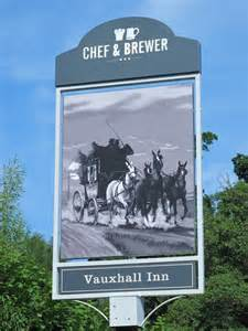 Vauxhall Inn Sign For The Vauxhall Inn Pembury Road C Mike Quinn