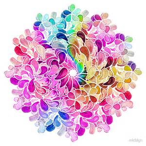 Paisley Wall Stickers quot rainbow watercolor paisley flower quot by micklyn redbubble
