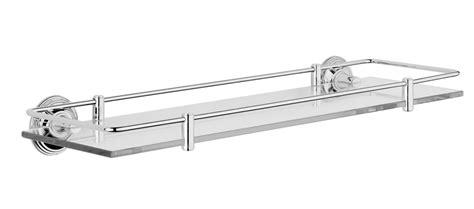 Bathroom Glass Shelves With Rail Style Moderne Glass Shelf With Fixed Rail Samuel Heath
