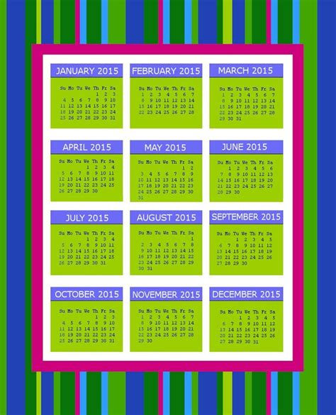 Inexpensive Calendars 2015 September 2015 Calendars Favorites Printable
