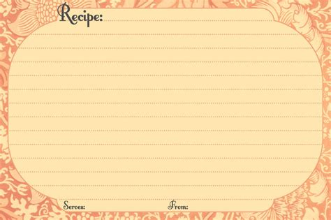 recipe card templates free recipe card template e commercewordpress