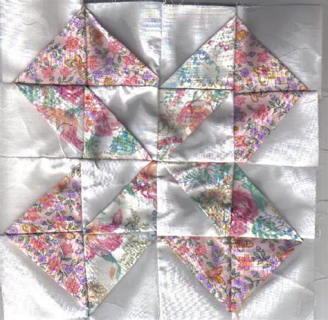 Folded Quilt by Dimensional Folded Fabric Quilt Block