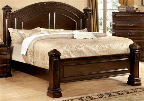 cherry king bed burleigh cherry king poster bed from furniture of america