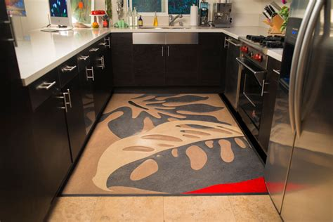 Modern Kitchen Rug Linoleum Rugs Modern Kitchen San Francisco By Crogan Inlay Floors