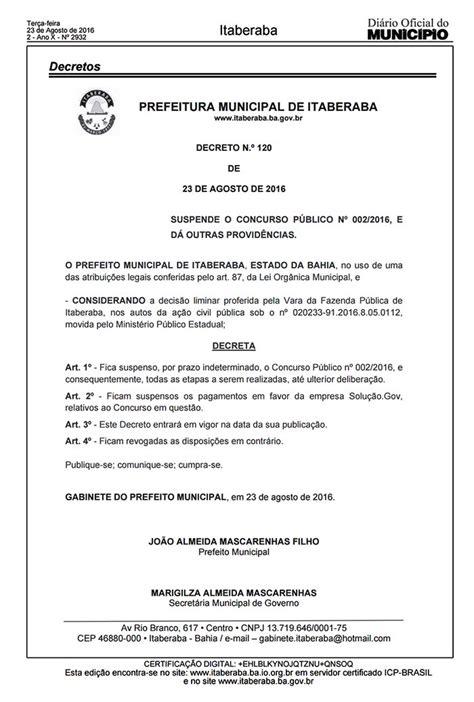 pensionado por decreto 2016 jo 227 o filho assina decreto suspendendo concurso de