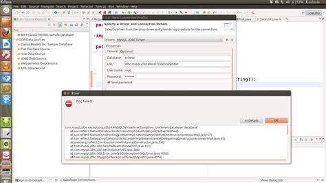 tutorial java mysql eclipse eclipse gt mysql connection fail stack overflow