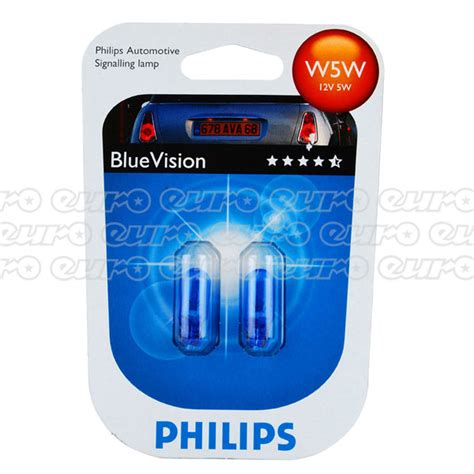 Lu Motor Philips Blue Vision philips blue vision w5w bulbs 501 t10 car side light
