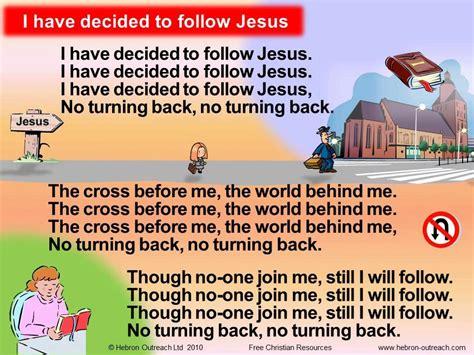 aichi yakusoku no crossroad lyrics i have decided to follow jesus chorus hebron outreach