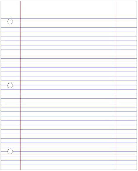 notebook paper template clipart best