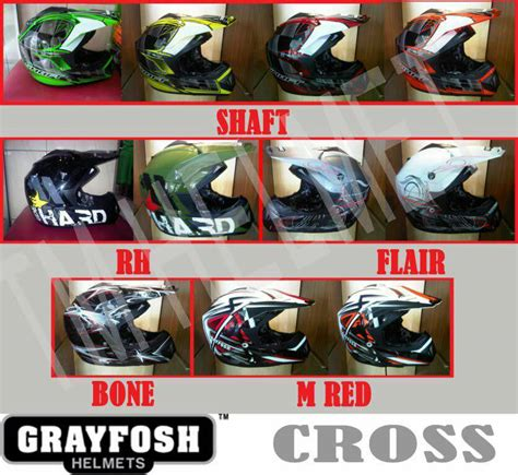Helm Grayfosh helm grayfosh cross pabrikhelm jual helm murah
