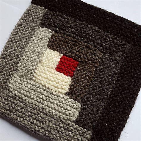 Knitted Log Cabin Pattern by Log Cabin Knitting Shuttermonkey Designs