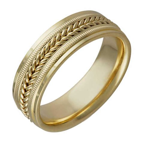 Wedding Rings Depot by 14k Yellow Gold Coil Braid Band 7mm 3005733 Shop At