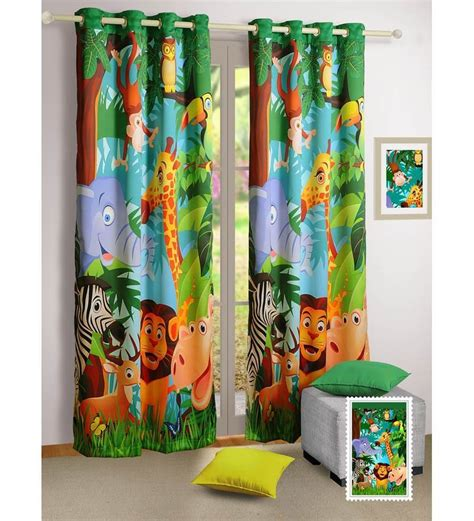 childrens door curtains swayam digital printed kids door curtain with eyelets
