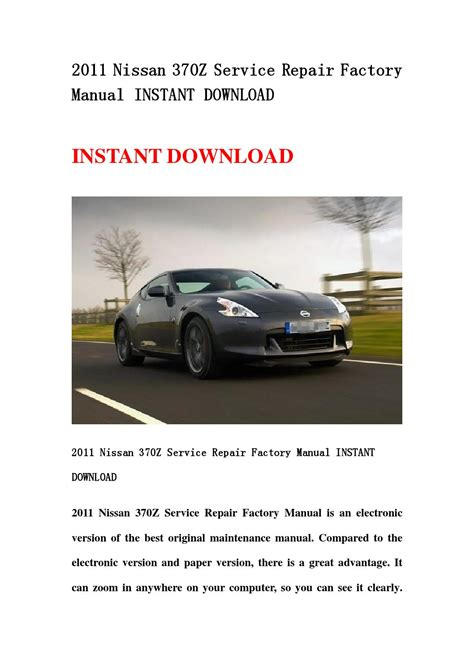 best auto repair manual 2011 nissan quest electronic toll collection 2011 nissan 370z service repair factory manual instant download by kfjshefjn issuu