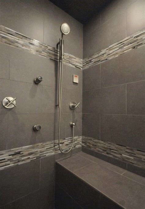 Master Bathroom Tile Ideas 17 Best Ideas About Gray Shower Tile On Pinterest Small Shower Remodel Master Bathroom Shower