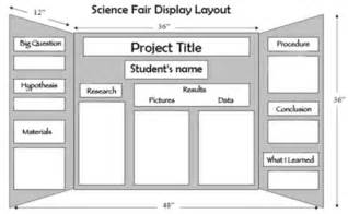 Science Fair Board Outline by Science Fair Miss Vandenburgh S Science Class Website