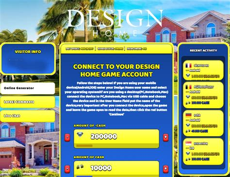 Home Design Cheats For Ipad by Design Home Hack Cheat Online Generator Diamonds Cash