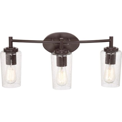 Bathroom Light Bulb Quoizel Eds8603wt Edison With Western Bronze Finish Bath Fixture And 3 Lights Brown