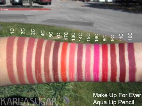 make up for aqua lip pencils