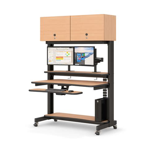 computer rack with overhead cabinets afcindustries com