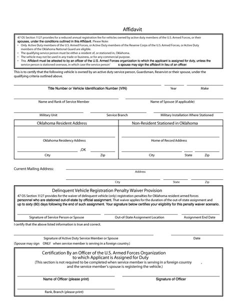 48 sle affidavit forms templates affidavit of