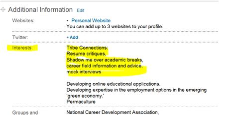 Resume Interests Section William Become A Mentor