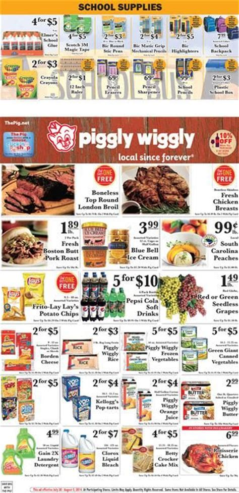 rooms to go weekly ad weekly specials piggly wiggly stock room