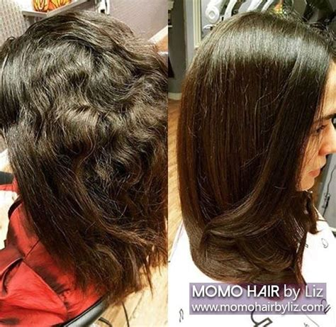 japanese permanent hair straightening and perming home sle pictures of the customer who had japanese hair