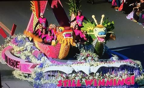 heart and soul dragon boat team photo winning rose bowl float from the la pink dragons