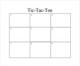 tic tac toe template 19 free samples examples amp formats