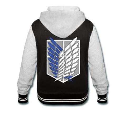 Jaket Snk Varsity attack on titan and hoodie on