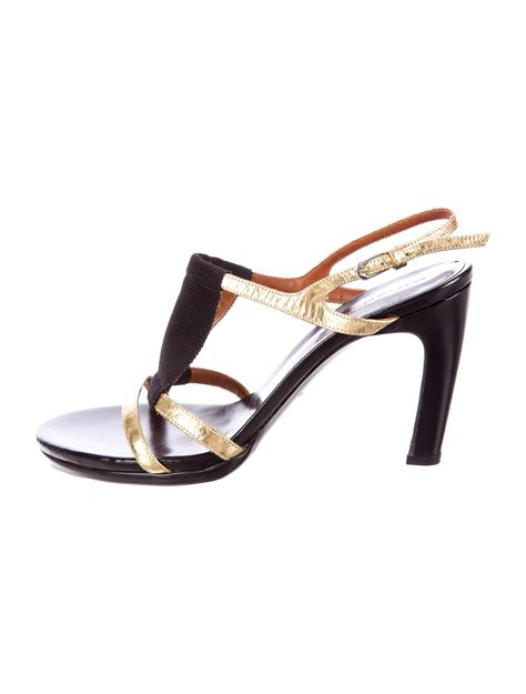 dries noten metallic sandals shoes dri24597 the realreal