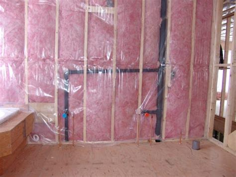 Bathroom Insulation by New Bathroom S Initial Plumbing