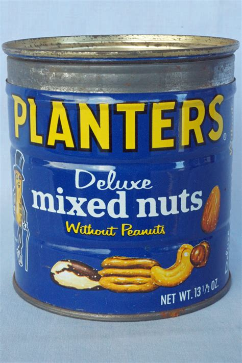sold vintage planters deluxe mixed nuts tin 13 1 2 oz