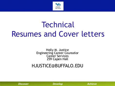 at buffalo career services technical resumes and cover let
