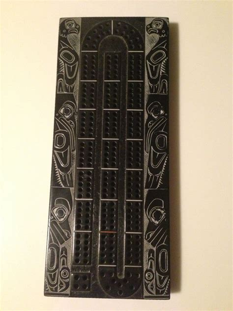 cribbage board templates metal haida totem cribbage board she s crafty