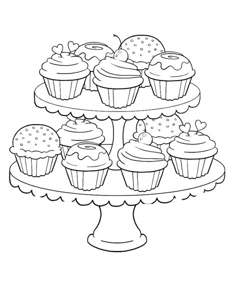 coloring pages for cupcakes cupcake coloring page coloring home