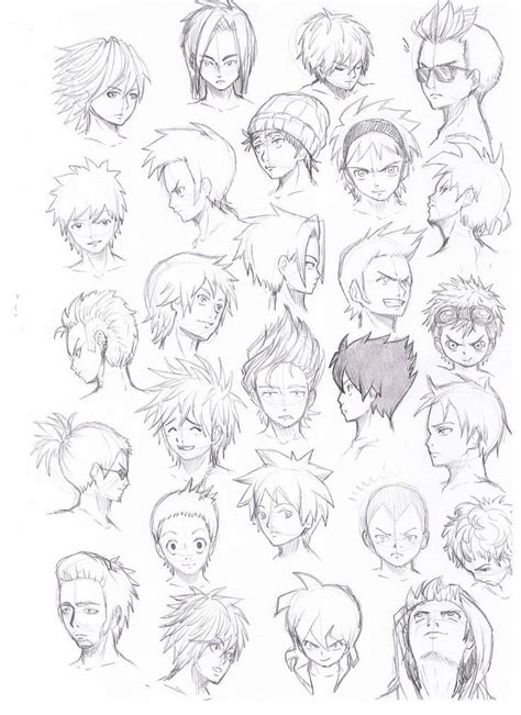 cool hairstyles drawing anime guy hairstyles google search guy hairstyles
