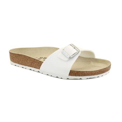 white slip on sandals birkenstock madrid womens slip on sandals shoes white ebay