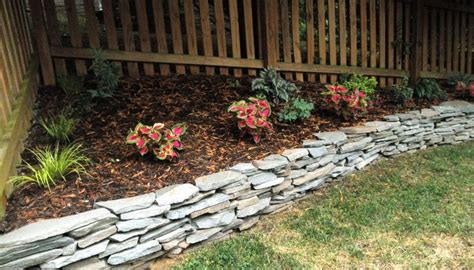 Landscape Edging To Prevent Erosion Stacked Raised Flower Bed I It Helps To