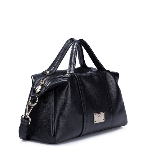 Discount Leather by Genuine Leather Wholesale Handbag Black
