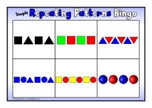 pattern to very simple game free pattern primary teaching resources and printables
