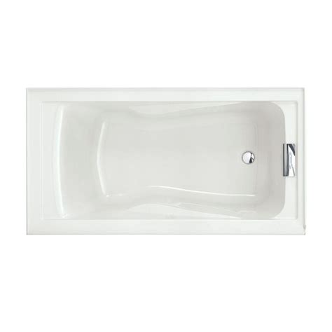 american standard acrylic bathtubs american standard evolution 5 ft acrylic reversible drain bathtub in white 2422v 002