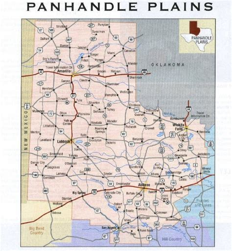 map of texas panhandle cities texas map panhandle