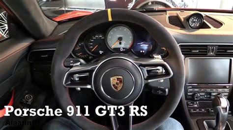 porsche carrera interior 2017 porsche 911 gt3 rs 2017 interior review youtube