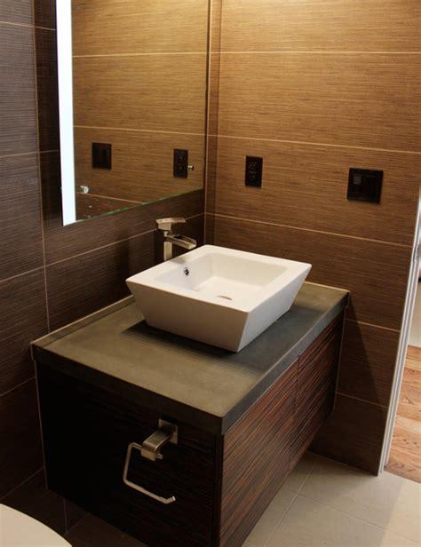 Vanity with vessel sink   Modern   Bathroom Vanities And