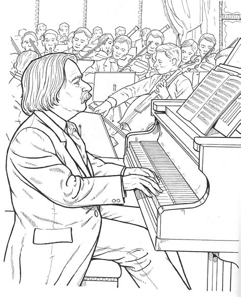 music composer coloring pages composer printable coloring pages