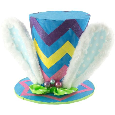 Top Rabbit With Hat rabbit ears blue chevron top hat small 23223