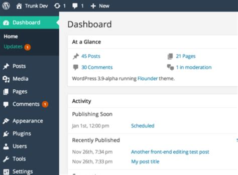wordpress reset layout how to customize the wordpress admin to your needs